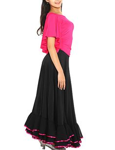 Flamenco Dress Viscose Modern Dance Skirt