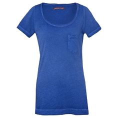 T-shirt délavé in UNION BLUE at Comptoir des Cotonniers. Cotton 100%, EUR55.00. The longish length looks great layered. I went down a size to have it fit more snugly.