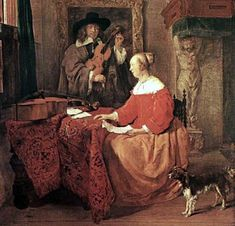 It's About Time: 1600s Music Indoors + Eating, Courting, Drinking & Dogs by Dutch artist Gabriel Metsu 1629-1667
