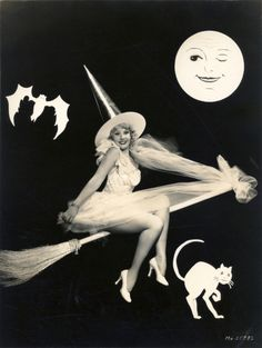 Pin-up white witch