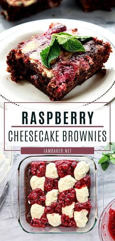 These Raspberry Cheesecake Brownies are deliciously moist and fudgy brownies combined with the perfect raspberry cheesecake mixture. Chocolate Marshmallow Cookies, Chocolate Chip Shortbread Cookies, Toffee Cookies, Yummy Cookies, Cake Chocolate, Mint Chocolate, Chocolate Desserts, Chocolate Chips, Best Dessert Recipes
