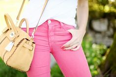 Not blue jeans but pink! (Hudson Jeans)