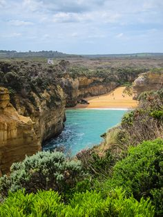 The Beach in Loch Ard Gorge on the Great Ocean Road of Australia by Sonibonboni