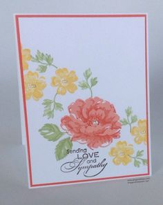 Card stippled blossom card