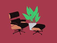 Chairs and plants - liannenixon