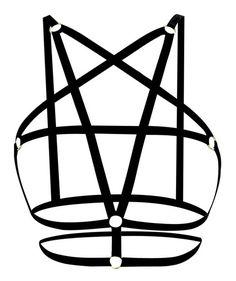 Y-BOA Harnais Bras Cage Sm Bracelet Bustier Soutien-Gorge Élastique Évider Strappy Crop Top Body Femme Noir #4 L: Amazon.fr: Vêtements et accessoires