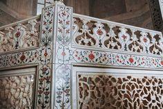 Taj Mahal detail; INDIA