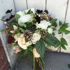 pale pinks and creamy whites; fall bridal bouquet by The Tall Tulip