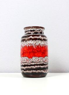 Vintage Scheurich Vase 231-15 West German Pottery by Vinteology