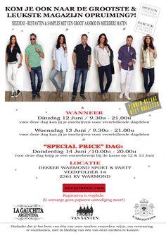 Sample Sale | L'Argentina | Van Santen & Van Santen | La Gauchita | Scarva -- Warmond -- 12/06-14/06 Van Santen, Argentina