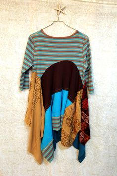 Boho Knit Tunic, Bohemian Romantic, Junk Gypsy Style