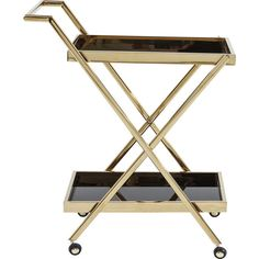 Tray Table Casino Gold - KARE Design #cleanmyspace #dreamhomereno #home Kare Design, Clean My Space, Tea Trolley, Drinks Trolley, Wine Bottle Storage, Serving Cart, Kartell, Kitchen Worktop, Safety Glass