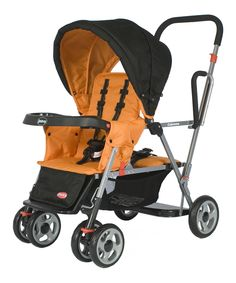 Look at this Orangetree Caboose Stand-On Tandem Double Stroller on #zulily today!