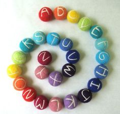 Felted Alphabet.