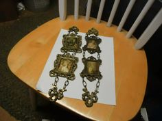 Pair of English Brass Wall Hangers with Framed by KennysAntiques, $40.00