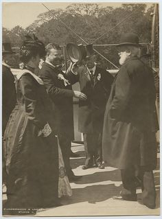 [President Theodore Roosevelt Greeting Dignitaries on the USS Algonquin], 1902 | by SMU