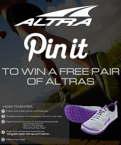 Enter for a chance to win some new Altras. 3 winners will be selected Aug. 11th.