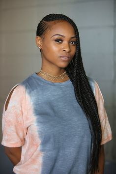 The New Orleans heat is no match for these hot hair and makeup looks. Braided Cornrow Hairstyles, Black Girl Braids, Braided Hairstyles For Black Women, African Braids Hairstyles, Braids For Black Hair, Girls Braids, Long Cornrows, Carrot Hairstyles, Girl Hairstyles