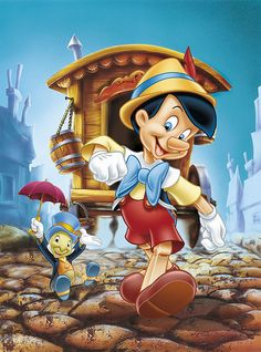 Diamond Painting Pinocchio and Jiminy Cricket Kit