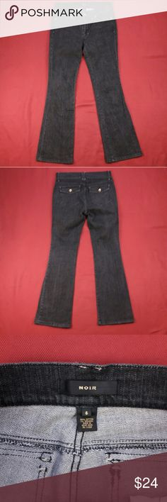 """Dark Gray Jeans ~ 33"""" Inseam White House Black Market Noir Jeans  Women's Size: 6  No flaws.  Measurements lying flat: Waist 16"""", Hips 19"""", Inseam 33"""", Front Rise 8.5"""", Back Rise 14.5"""".  Please, review pictures. You will get the item shown. Smoke & pet free home. White House Black Market Jeans Boot Cut"""
