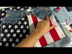 Here's how to make these cute American Flag Shorts just in time for Fourth of July!!!