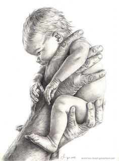 Modèle: Anne Geddes, courtoisie The Effective Pictures We Offer You About art dessin color A quality Pencil Art Drawings, Realistic Drawings, Art Drawings Sketches, Figure Drawing, Painting & Drawing, Birth Art, Art Du Croquis, Anne Geddes, Baby Drawing