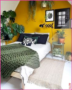70 Amazing Colorful Bedroom Decor Ideas And Remodel for Summer Project 29 – Home Design Bohemian Bedroom Decor, Home Decor Bedroom, Bedroom Ideas, Bohemian Decorating, Bedroom Rugs, 50s Bedroom, Bedroom Curtains, Decor Room, Cute Dorm Rooms