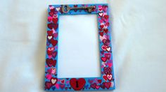 3 x 5 Valentine's Day recycled picture frame by VeeHandPainted