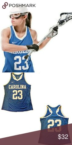 Nike North Carolina Lacrosse Racerback Jersey Brand new with tags Baby Blue  Women's  MED nike Tops Tank Tops