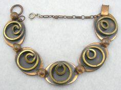 Rebajes Copper & Brass Bracelet - Garden Party Collection Vintage Jewelry