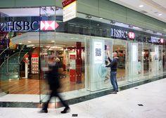 HSBC - Interactive Touch Screen Window Display  032 Design Ltd, Leic, UK