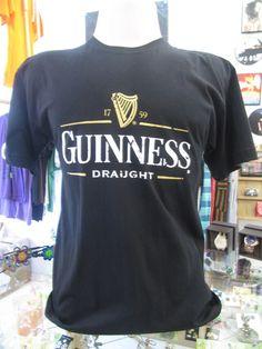 Camiseta 100% algodão Com estampa do chopp Guinness Tamanho M R$39,00