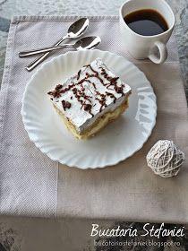 """Bucataria Stefaniei: Tort """"Ecler"""" cu mascarpone si vanilie Mai, Pudding, Desserts, Mascarpone, Tailgate Desserts, Deserts, Puddings, Postres, Dessert"""