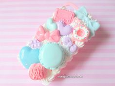 Pastel Fairy Kei Sweets Decoden iPhone by NerdyLittleSecrets, $28.00