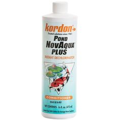 🐟 16oz Kordon Pond NovAqua Plus is the most effective of the tap water conditioners for benefiting aquatic life, but it goes far beyond that. Pond NovAqua+ provides, in a single product, everything necessary to handle all of the needs when treating tap wate