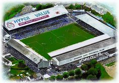 Ninian Park in Art, former home of Cardiff City F.C.