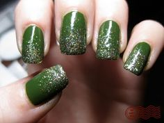 Don't love the green, but the idea of fading sparkles is cute!