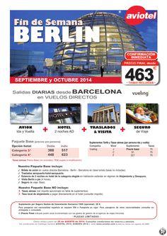 BERLIN escapada Avion+2n Hotel AD+ traslados + visita + Seguro salida BCN desde 463 euros ultimo minuto - http://zocotours.com/berlin-escapada-avion2n-hotel-ad-traslados-visita-seguro-salida-bcn-desde-463-euros-ultimo-minuto/