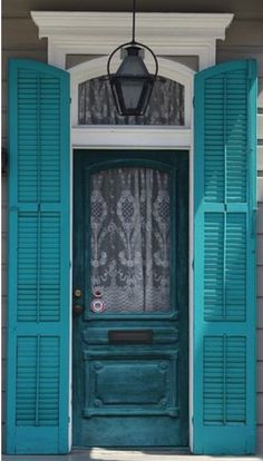Doors are such a great place to play with color - exterior and interior! || New Orleans color and light (****Duplicate Pin)