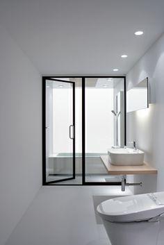 #bathroom design #interior design #minimalism #white interiors #windows