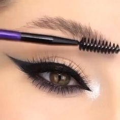 Eye brow tutorial.. #brows #eyemakeuptutorial #eyemakeup   #smokeyeye #hudabeauty #makeupforever #viral #glittermakeup #makeupaddict  #makeuptutorial #makeupinspiration #wingedliner #cosmetics  #perfect So I hope you like and enjoyed video... Eyebrow Makeup Tips, Eye Makeup Steps, Makeup Eye Looks, Beautiful Eye Makeup, Skin Makeup, Eyeshadow Makeup, Dead Makeup, Makeup Looks Tutorial, Smokey Eye Makeup Tutorial