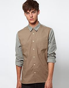 ASOS Shirt With Contrast Panels $21.11