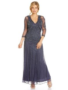 Stunning Beaded mother of the groom dress with  Cropped Bolero Jacket Dress | $248.00