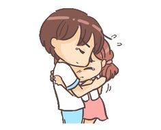 LINE Creators' Stickers - Love Expressions Example with GIF Animation Cute Love Pictures, Love Picture Quotes, Cute Love Gif, Cute Love Couple, Cute Cartoon Images, Cute Couple Cartoon, Cute Love Cartoons, Hug Gif, Fairy Statues