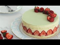 Fraisier / Strawberry Cake – Bruno Albouze – THE REAL DEAL - YouTube
