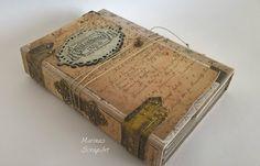 Vintage mini album for men Mini Albums, Decoupage, Baywatch, Vintage, Scrapbooking, Movie, Design, Home Decor, Decoration Home