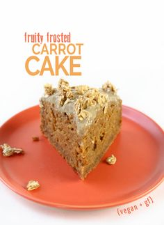 Fruity Frosted Carrot Cake -- Use milk option of your choice. [gluten-free, dairy-free, vegan, vegetarian, nut-free]