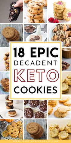 here are 18 decadent guilt free Keto cookies that you can enjoy on your keto or low carb diet. These recipes use basic keto ingredients to make a guilt free treat that helps you stick to your diet. Desserts Keto, Keto Friendly Desserts, Keto Snacks, Dessert Recipes, Diabetic Snacks, Lunch Recipes, Yummy Recipes, Salad Recipes, Low Carb