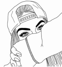 Image result for tumblr girls drawing | Tumblr Outlines ...