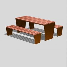Manufactured from long lasting Corten weathering Steel Picnic Set, Picnic Table, Timber Slats, Weathering Steel, Street Furniture, Bench Seat, Hardwood, Surface, Plant